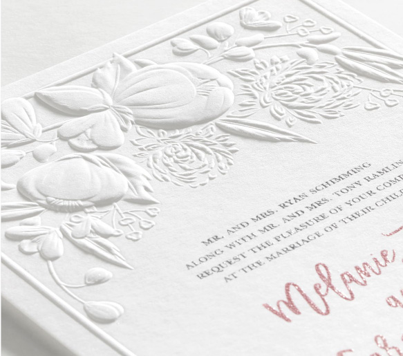 Modern Blooms Invitation from Carlson Craft - a custom wedding invitation with a refined design and Simple elegance.