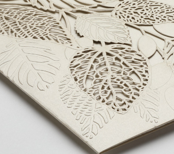 Carlson Craft - Delightful Leaves Invitation - Gold Shimmer Pocket from the Luxe Collection.